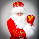 Santa Claus shows heart. Stock Image
