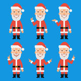 Santa Claus Shows and Indicates Royalty Free Stock Images
