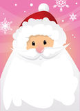 Santa Claus and sign Stock Photo