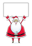 Santa Claus with sign Royalty Free Stock Photo