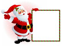 Santa Claus sign. Illustration of smiling Santa Claus holding signs Royalty Free Stock Photo