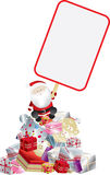 Santa claus and sign Royalty Free Stock Images