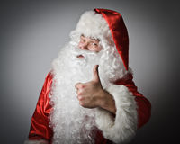 Santa Claus and sign of approval Royalty Free Stock Photo