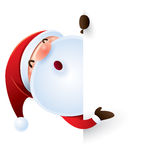 Santa Claus and sign. Santa Claus with blank page Stock Photos