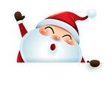 Santa Claus and sign Stock Images