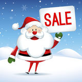 Santa Claus with sign of sale in Christmas Royalty Free Stock Image