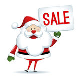 Santa Claus with sign of sale Stock Images