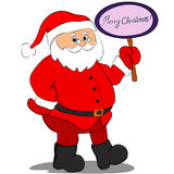 Santa Claus with a sign Royalty Free Stock Image