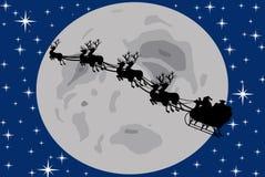 Santa Claus silhouette Royalty Free Stock Image