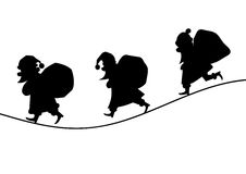 Santa Claus Silhouette royalty illustrazione gratis