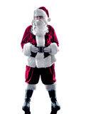 Santa claus silhouette isolated Royalty Free Stock Images