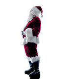 Santa claus silhouette isolated Royalty Free Stock Image