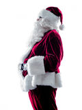 Santa claus silhouette isolated Royalty Free Stock Photo