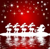 Santa claus silhouette at the water Stock Photo