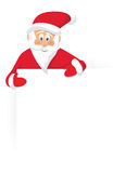 Santa Claus and sing Royalty Free Stock Photo