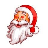 Santa Claus sinnesrörelser Del av juluppsättningen Förälskelse passion, amorousness Ordna till för tryck Royaltyfri Bild