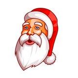 Santa Claus sinnesrörelser Del av juluppsättningen Trött uttröttat Ordna till för tryck Arkivbild