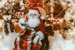 House of santa claus royalty free stock image