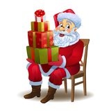 Santa Claus with gifts Stock Photos