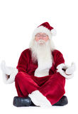 Santa Claus sits and meditates Royalty Free Stock Image