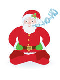 Santa Claus sitting as yogi Royalty Free Stock Photography