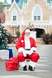 Santa Claus Sitting In Courtyard Stock Images