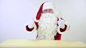 Santa Claus sitting and gestures stock footage