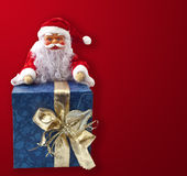 Santa Claus sitting on a parcel 3 royalty free stock photo