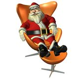 Santa Claus in sitting pose Stock Photo