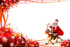 Santa Claus sitting on the reindeer Royalty Free Stock Photography