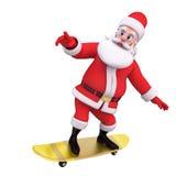 Santa claus skate on skating wheels Stock Photo
