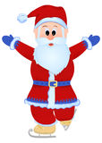 Santa Claus skating Royalty Free Stock Photo