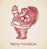 Santa Claus Sketch, Christmas design element Stock Photo