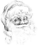 Santa Claus. Sketch of Santa Claus background. Santa Claus portrait sketch. Sketch of Santa Claus background Royalty Free Stock Image