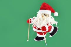 Santa Claus with ski Stock Photos
