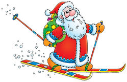 Santa Claus skier Stock Photo