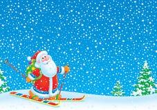 Santa Claus skier Stock Photos