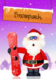 Santa Claus skier. Illustration of Santa Claus skier Royalty Free Stock Image
