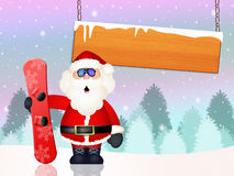 Santa Claus skier Stock Photography