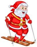 Santa Claus Skiing ilustración del vector