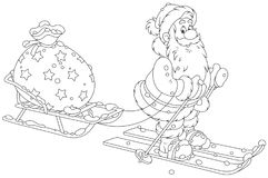 Santa with his toy bag Stock Image