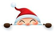Santa Claus skinn bak tecknet stock illustrationer