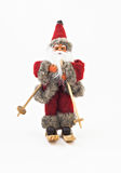 Santa Claus on skis tree a toy isolated royalty free stock images