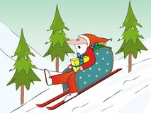 Santa Claus and sled Stock Image