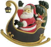 Santa Claus In Sledge Royalty Free Stock Photos