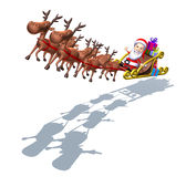 Santa Claus on a sledge Stock Photography