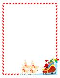 Santa claus on a sledge border Stock Image