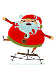 Santa Claus on sledge Royalty Free Stock Image