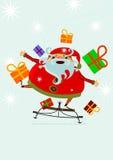 Santa Claus on sledge Royalty Free Stock Photo
