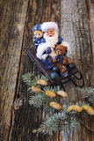 Santa Claus in sledge Stock Photos